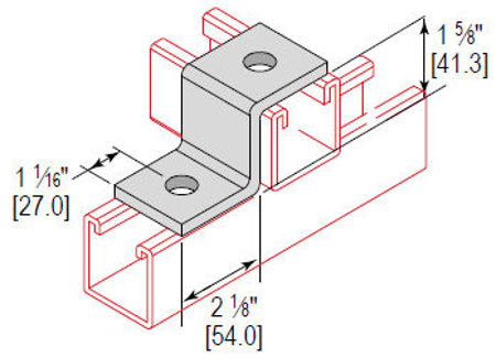 Picture for category Z Fitting Cross 2 Hole