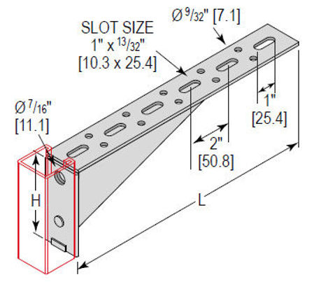Picture for category Slotted Shelf Bracket